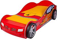 Стилизованная кровать детская ABC-King Champion / CH-1000-160-R (красный) -