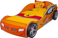 Стилизованная кровать детская ABC-King Champion / CH-1000-160-O (оранжевый) -