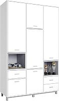 Шкаф Polini Kids Mirum 2335 трехсекционный (белый/серый) -