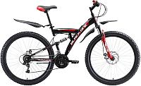 Велосипед Black One Flash FS 27.5 D 2020 (18, черный/красный/белый) -