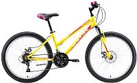 Велосипед Black One Ice Girl 24 D 2020 (желтый/розовый/белый) -