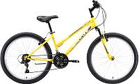 Велосипед Black One Ice Girl 24 2020 (желтый/белый/серый) -