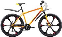 Велосипед Black One Onix 26 D FW 2020 (16, желтый/черный/красный) -