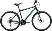 Велосипед Black One Onix 26 D 2020 (18, черный/серый/зеленый) -