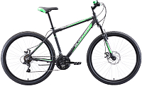 Велосипед Black One Onix 27.5 D Alloy 2020 (18, черный/зеленый/серый) -