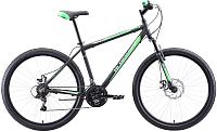 Велосипед Black One Onix 27.5 D Alloy 2020 (20, черный/зеленый/серый) -