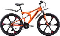 Велосипед Black One Totem FS 26 D FW 2020 (16, оранжевый/красный/черный) -