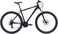 Велосипед STARK Hunter 29.2 D 2020 (22, черный/серый/голубой) -