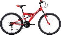 Велосипед Black One Ice FS 24 2020 (черный/красный/белый) -