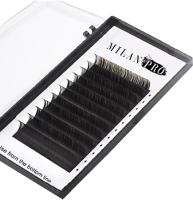 Ресницы для наращивания Milan Pro 1030 0.10/C/9 (16 линий, матовый черный) -
