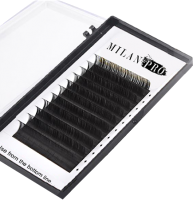 Ресницы для наращивания Milan Pro 1035 0.10/CC/11 (16 линий, матовый черный) -