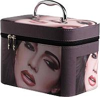 Кейс для косметики MONAMI CX7514-1 (коричневый) -