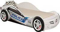 Стилизованная кровать детская ABC-King Police / PC-1000-160 (белый) -