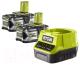 Набор аккумуляторов для электроинструмента Ryobi RC18120-250 + RC18120 / 5133003364 (с зарядным) -