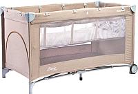 Кровать-манеж Caretero Basic Plus (бежевый/слоновая кость) -