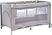 Кровать-манеж Caretero Basic Plus (серый) -