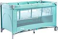 Кровать-манеж Caretero Basic Plus (мятный) -