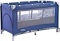 Кровать-манеж Caretero Basic Plus (синий) -