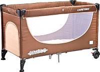 Кровать-манеж Caretero Simplo (коричневый) -