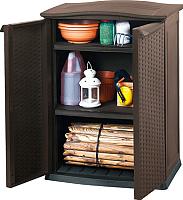Шкаф уличный Keter Compact Garden Rattan / 231229 (коричневый) -