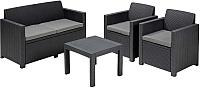 Комплект садовой мебели Keter Alabama Set / 213968 (графит) -