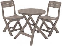 Комплект садовой мебели Keter Jazz Set / 231914 (капучино) -