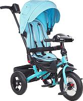 Детский велосипед с ручкой Mini Trike Джинс (голубой) -