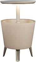 Стол садовый Keter Illuminated Cool Bar / 231366 (белый) -
