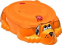 Песочница-бассейн PalPlay Собачка 432 с крышкой (оранжевый) -