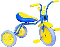 Детский велосипед Самокатыч Зубренок (голубой/желтый) -