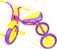 Детский велосипед Самокатыч Зубренок (фиолетовый/желтый) -