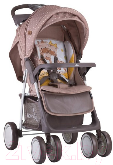 Купить Детская прогулочная коляска Lorelli, Foxy Beige Yellow Family (10020521803A), Китай