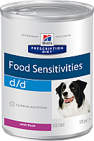 Корм для собак Hill's Prescription Diet Food Sensitivities d/d Duck&Rice (370г) -