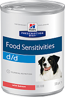 Корм для собак Hill's Prescription Diet Food Sensitivities d/d Salmon&Rice (370г) -