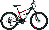 Велосипед Forward Altair MTB FS 24 Disc 2020 / RBKT02N4P002 (15, черный/красный) -
