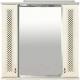 Шкаф с зеркалом для ванной Misty Вивьен 80 / П-Ввн03080-10152Ш -