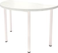 Обеденный стол Millwood Далис 2 (дуб белый Craft/металл белый) -