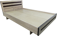 Двуспальная кровать Барро М2 КР-017.11.02-15 160х186 (дуб сонома) -
