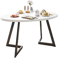 Обеденный стол Domus Диннер-2 / 14-102-103-02 (белый/черный) -