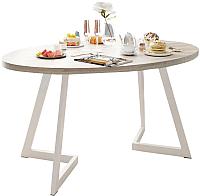 Обеденный стол Domus Диннер-2 / 14-102-103-06 (вяз светлый/белый) -