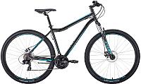 Велосипед Forward Sporting 29 2.0 Disc 2020 / RBKW0MN9Q008 (19, черный/бирюзовый) -