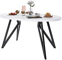 Обеденный стол Domus Оригами-2 / 14-103-102-02 (белый/черный) -