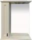 Шкаф с зеркалом для ванной Misty Лувр 65 L / П-Лвр03065-1014Л (слоновая кость) -