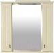 Шкаф с зеркалом для ванной Misty Лувр 85 / П-Лвр03085-10142Ш (слоновая кость) -