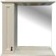 Шкаф с зеркалом для ванной Misty Лувр 85 L / П-Лвр03085-1014Л (слоновая кость) -