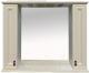Шкаф с зеркалом для ванной Misty Лувр 105 / П-Лвр03105-10142Ш (слоновая кость) -