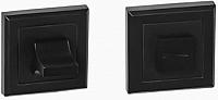 Фиксатор дверной защелки VELA WC-Quadro (чёрный) -