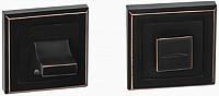 Фиксатор дверной защелки VELA WC-Quadro (тёмная медь) -