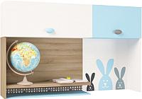 Полка ABC-King Mix Bunny правый / MIX-11-02-K-BB (голубой) -