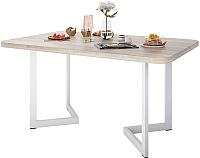 Обеденный стол Domus Симпл-6 / 14-101-106-06 (вяз светлый/белый) -